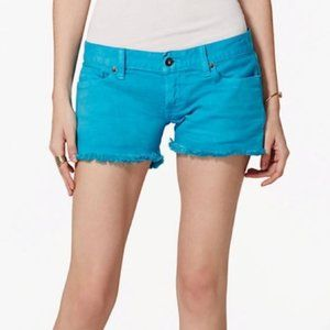 Lucky Brand Turquoise Blue Frayed Riley Shorts